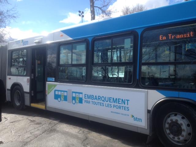 La STM permettra l'embarquement par la porte arrière sur une ligne de bus