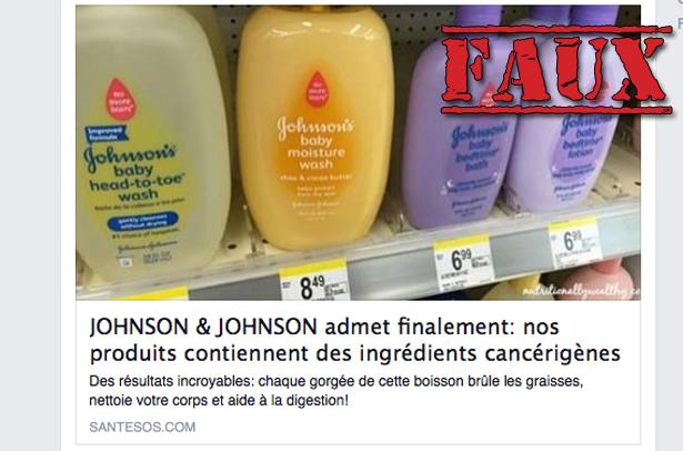 Non, le shampooing pour bébé Johnson et Johnson ne contient pas de «substances toxiques»