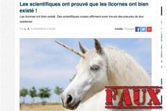 Non, des chercheurs n'ont pas trouvé un fossile de licorne