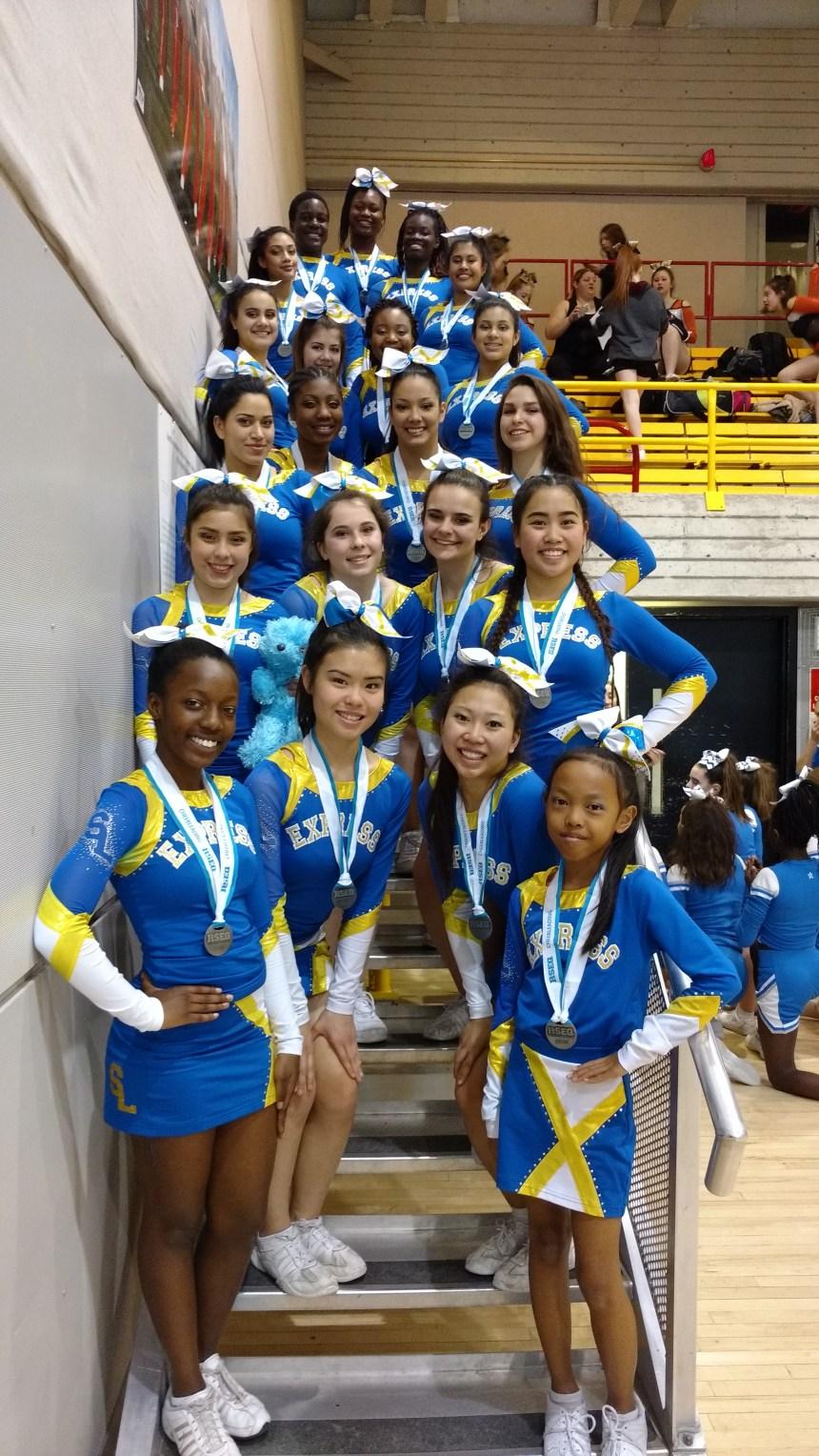 Championnat provincial de cheerleading: l'argent pour l'Express