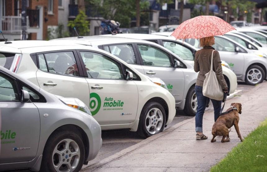 Arrivée d'Auto-mobile à Saint-Laurent