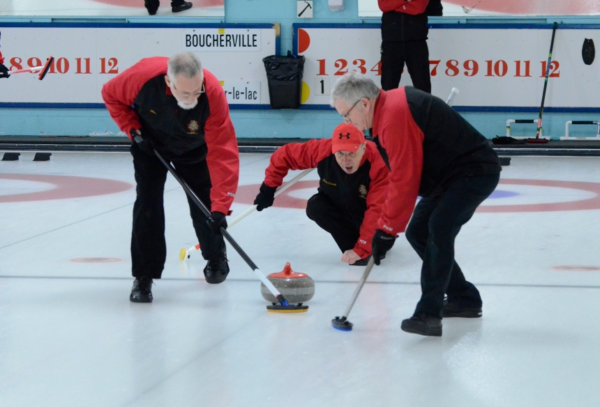 Plus de curling à la Base militaire de Longue-Pointe