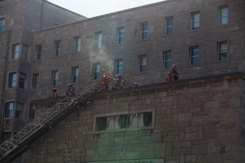 Incendie: la rue Saint-Urbain est fermée