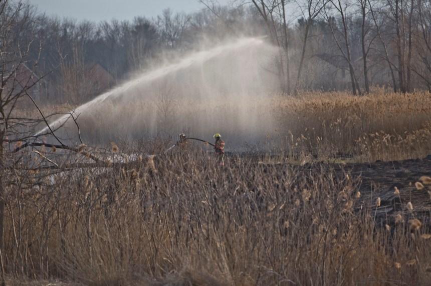 Incendie dans un champ à RDP-PAT