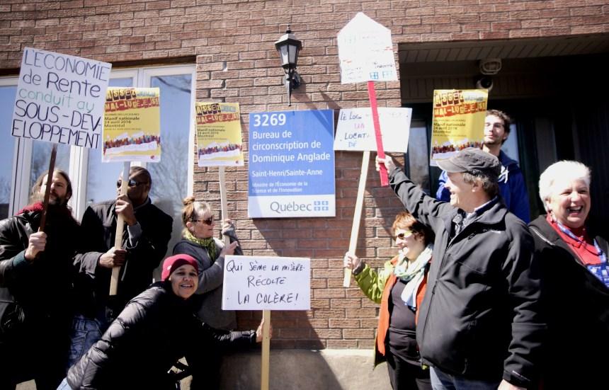 Manifestation pour la défense des conditions des locataires