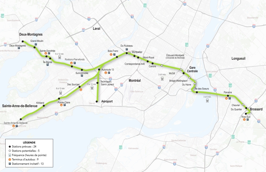 Réseau électrique métropolitain: Long awaited train coming to Dorval airport