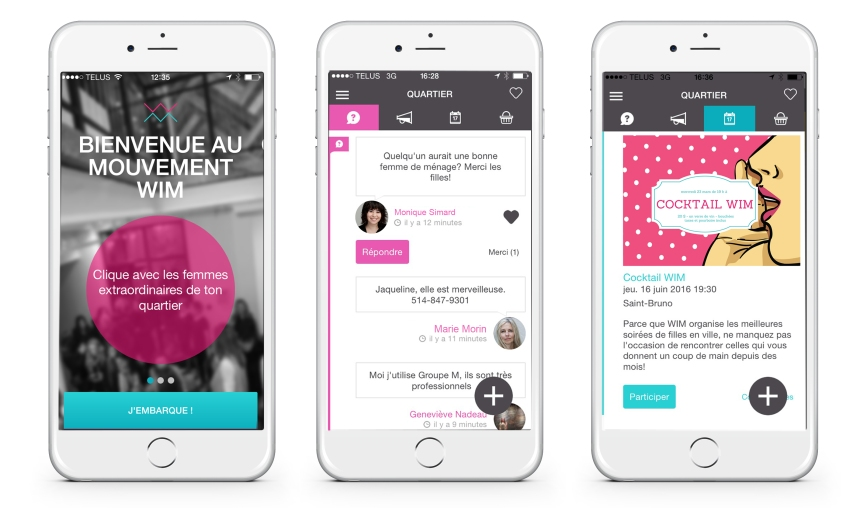 Women in mind lance son application mobile