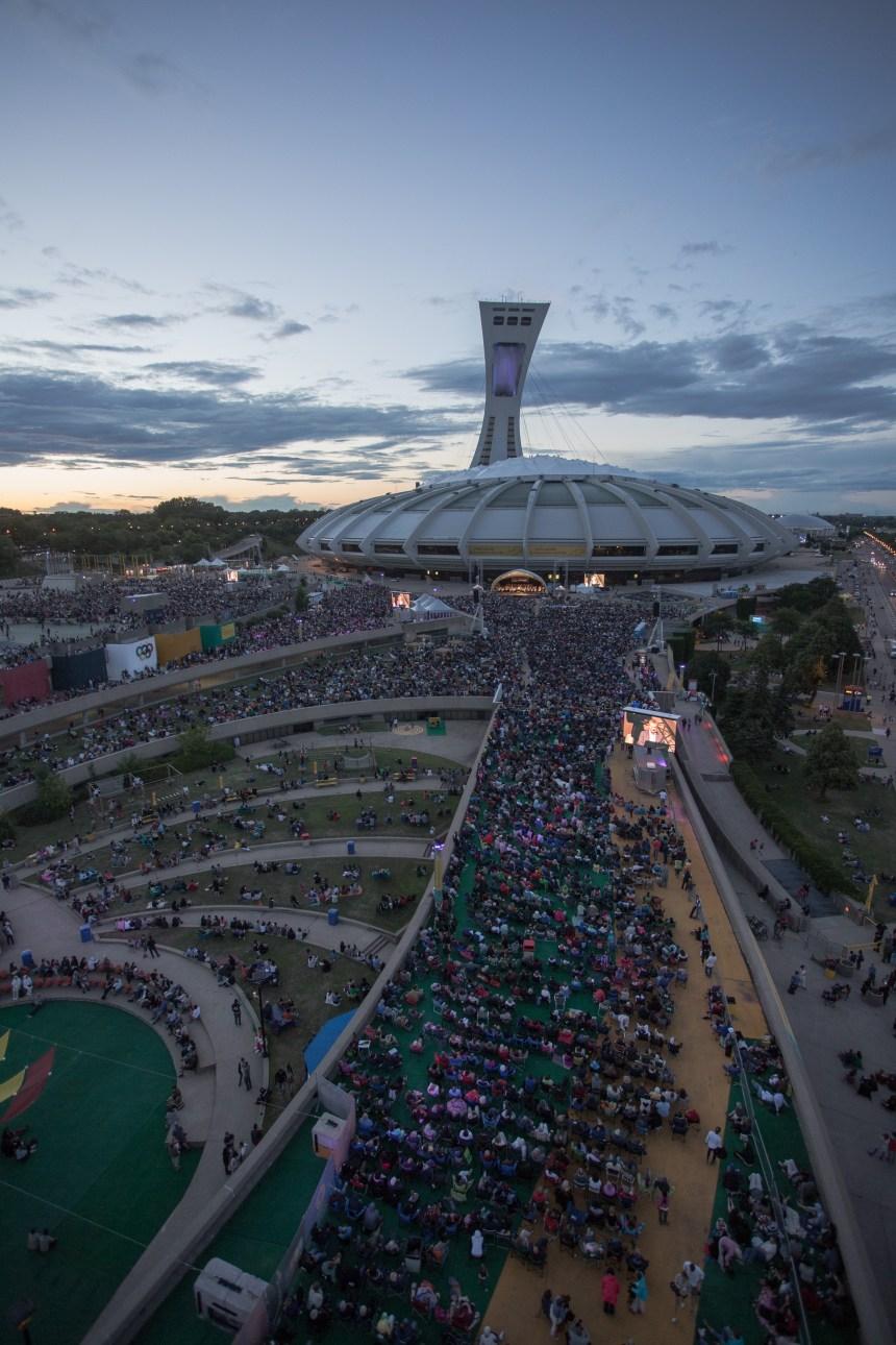 L'Esplanade du Parc Olympique attire un million de personnes