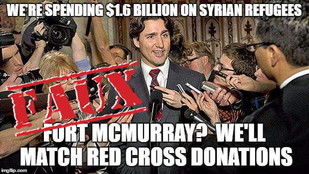 No, the federal government is not spending more on Syrian refugees than on Fort McMurray