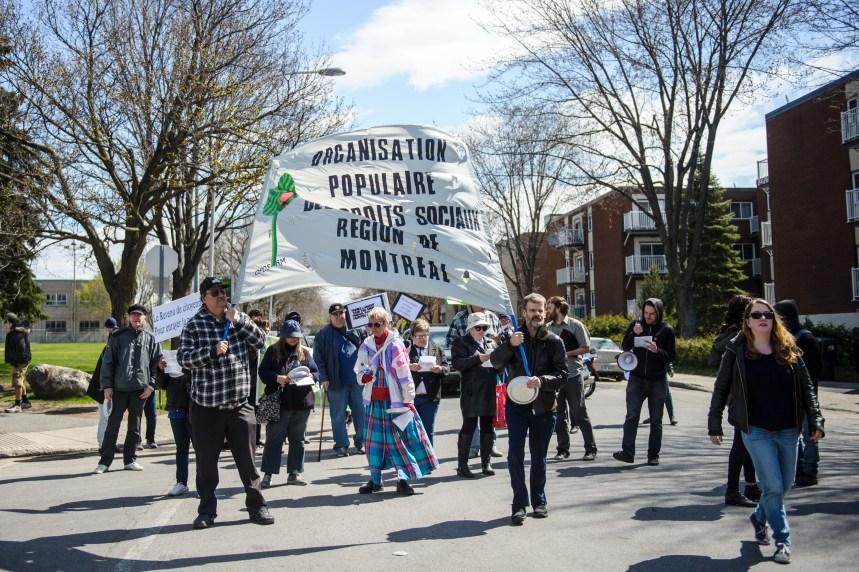 Manifestation contre le projet de loi 70