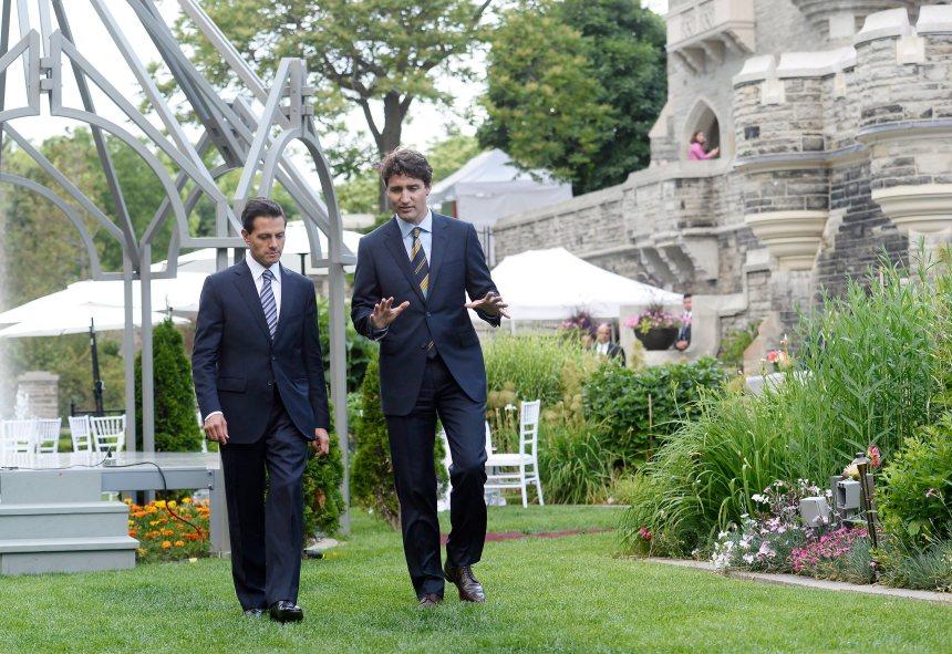 Trudeau accueille le président du Mexique