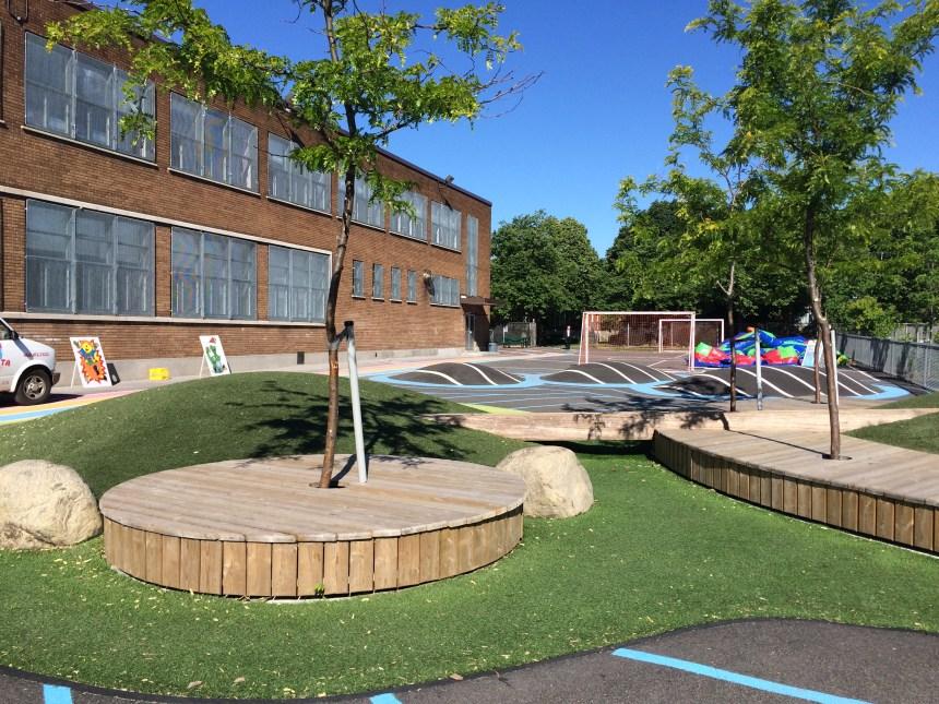 Une cour d'école toute neuve pour l'école Saint-Donat