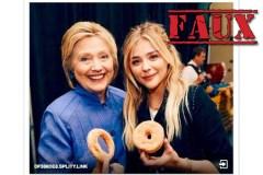 Cette photo de Hillary Clinton et Chloë Grace Moretz est un montage