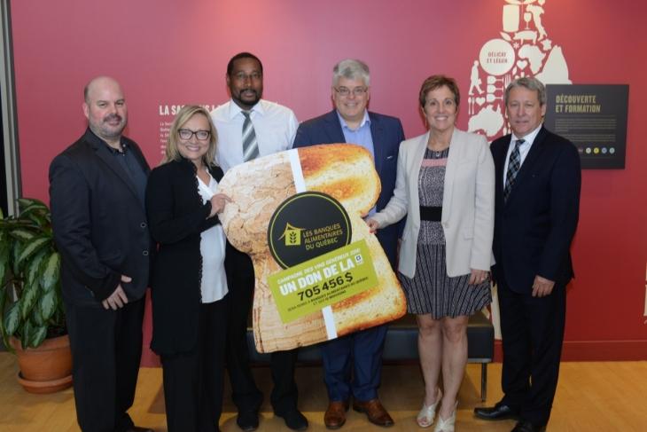 La SAQ fait un don de 143 771$ à Moisson Montréal