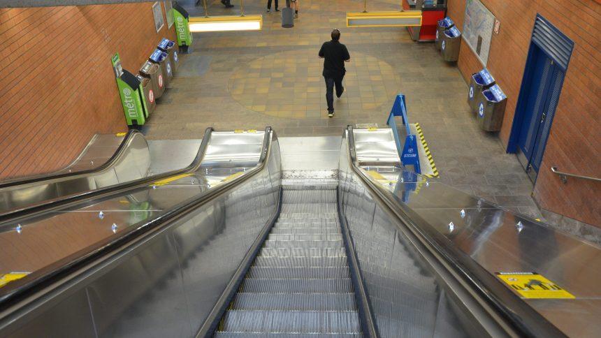 Réfection des escaliers mécaniques