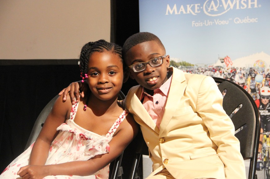 «48h vélo» : Deux enfants malades présidents d'honneur avec Denis Coderre