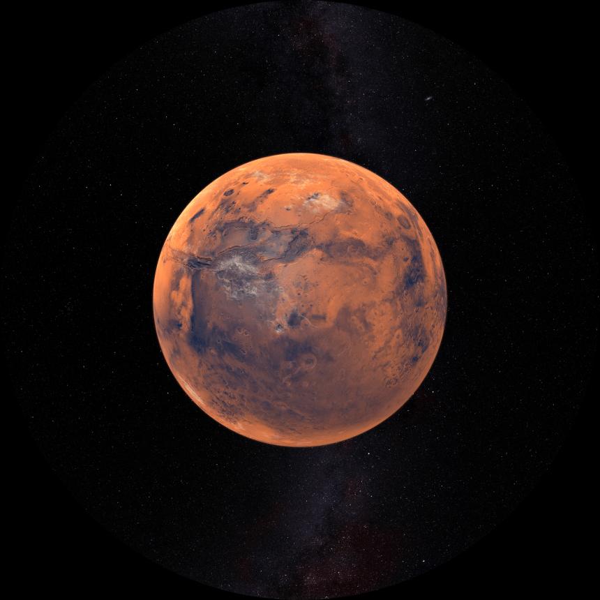 Un vaste lac d'eau liquide découvert sur Mars