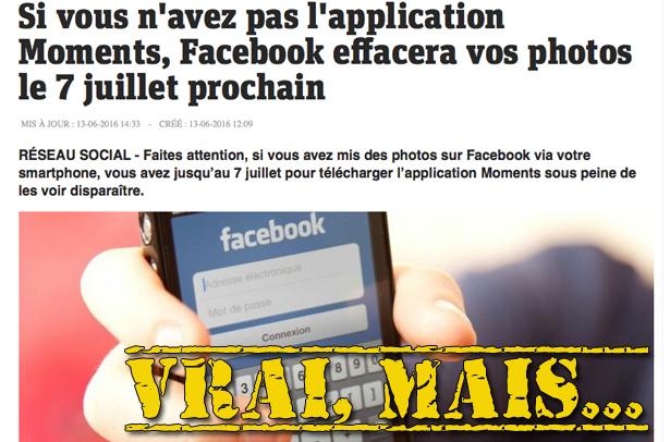 Non, Facebook ne supprimera pas toutes vos photos le 7 juillet