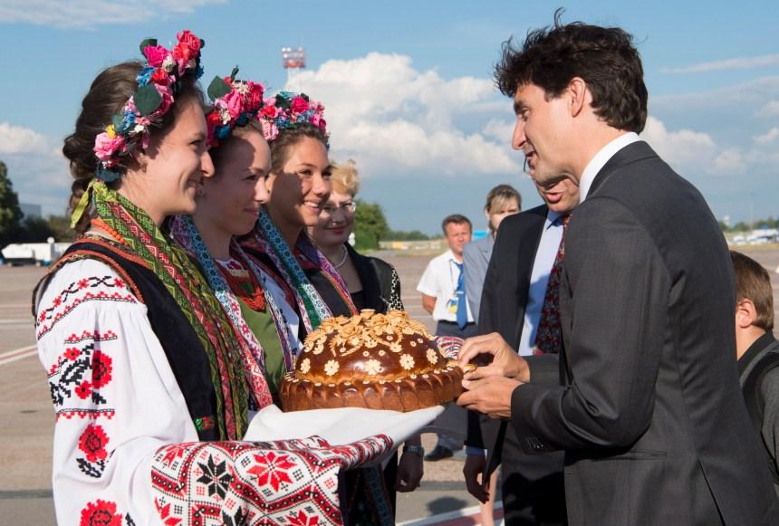 Trudeau est arrivé à Kiev