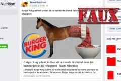 Non, Burger King n'a pas admis avoir utilisé du cheval dans ses hamburgers