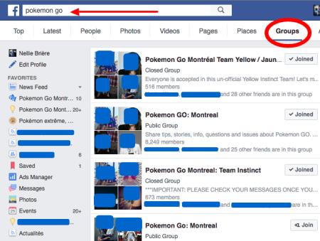 Facebook Pokémon go