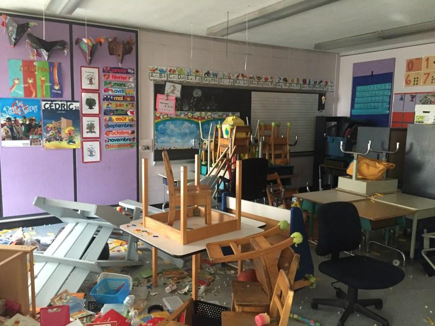 Saccage à Louis-Dupire: une semaine de travaux pour tout nettoyer