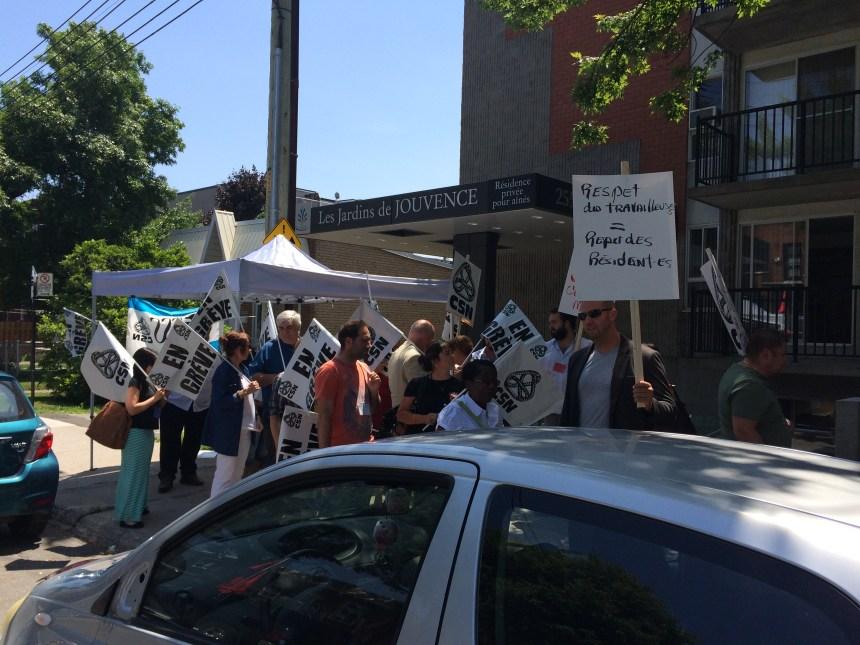 Les employés des Jardins de jouvence en grève