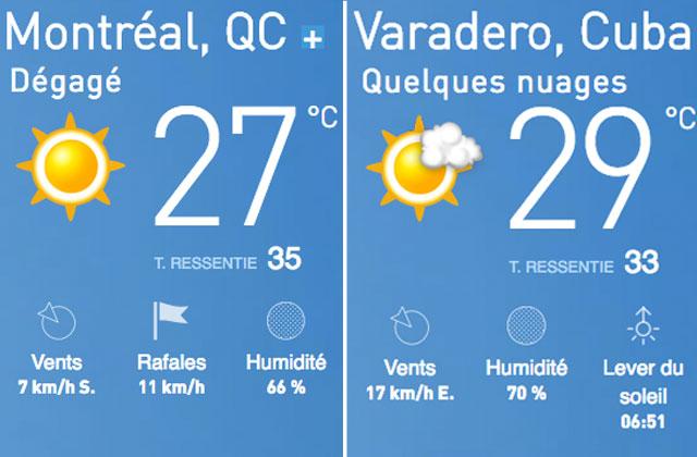 À Montréal comme à Varadero