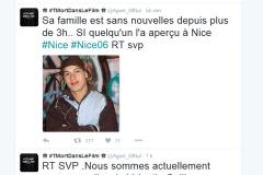 Nice: un compte Twitter semble faire circuler des fausses photos de personnes portées disparues