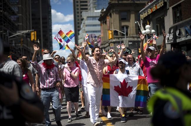 Justin Trudeau au défilé de la fierté gaie