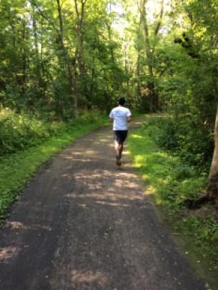 Le parcours a emprunté les agréables sentiers du parc-nature.
