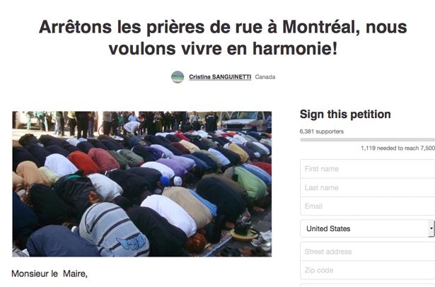 Une prière de musulmans dans la rue à Montréal? Ce qu'on oublie de mentionner…