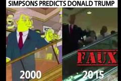 Non, cette vidéo des Simpson n'a pas prédit en 2000 la montée de Donald Trump