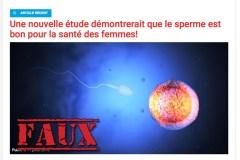Les gars, arrêtez de partager ces «études» qui disent que le sperme est bon pour la santé des femmes