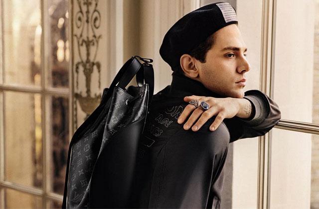Xavier Dolan prend la pose pour la campagne automne-hiver de Louis Vuitton