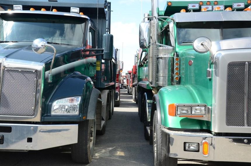 Manifestation de camionneurs lundi matin
