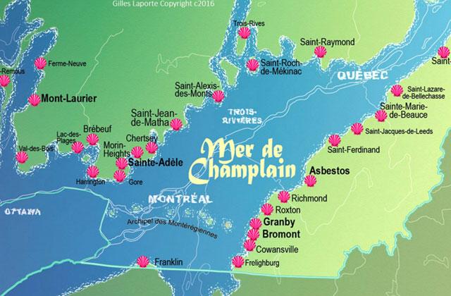 Sur les plages de la mer de Champlain