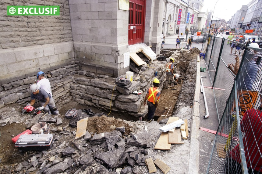 Nouvelles découvertes archéologiques dans le Vieux-Montréal