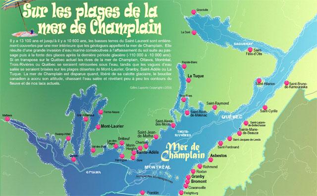 plages de la mer de Champlain