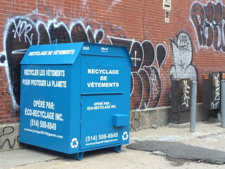Des conteneurs à recyclage qui dérangent