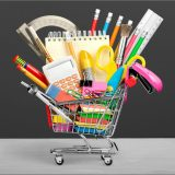 Education Back to School Shopping School Supplies Equipment Sale Shopping Cart