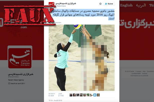 Non, un média iranien n'a pas censuré cette photo d'une joueuse de volleyball