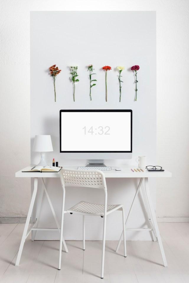 White creative office.