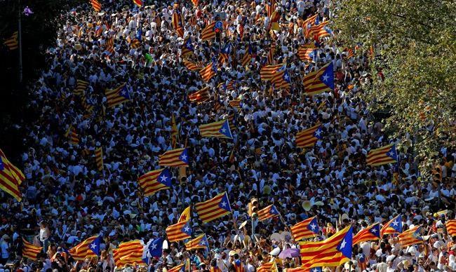 Des milliers de manifestants à Barcelone pour la libération des indépendantistes