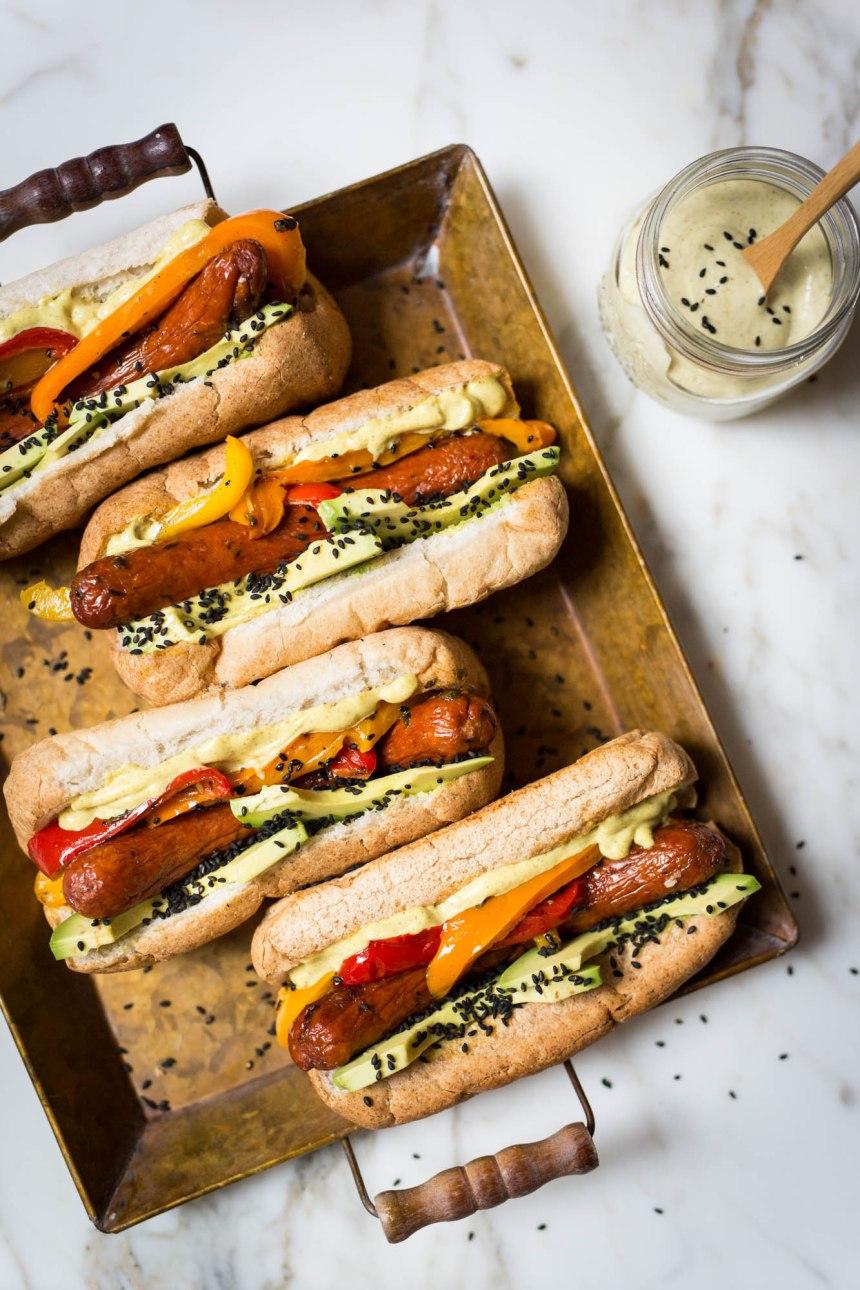 Manger sans gluten ni produits laitiers: des Hot-dogs de luxe