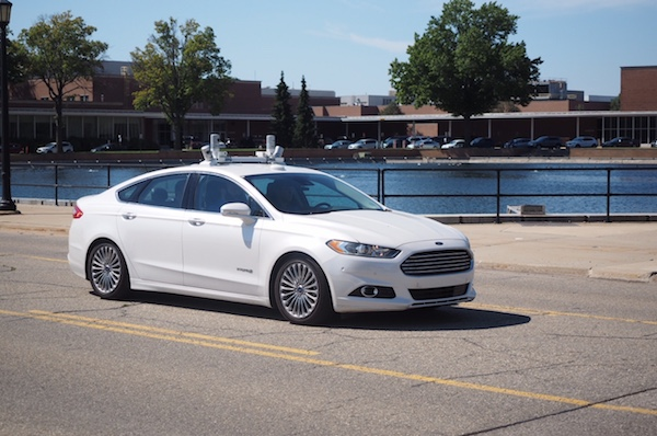 J'ai été conduit par une voiture autonome