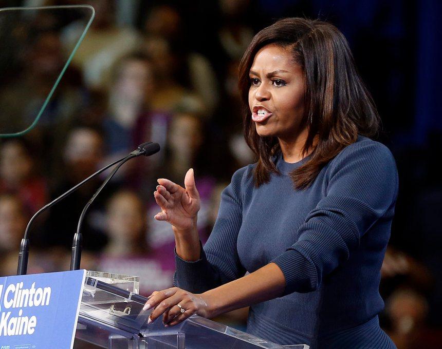 Michelle Obama réplique à Donald Trump