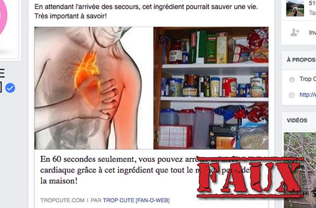Non, il ne faut absolument pas donner de poivre de Cayenne à une victime de crise cardiaque
