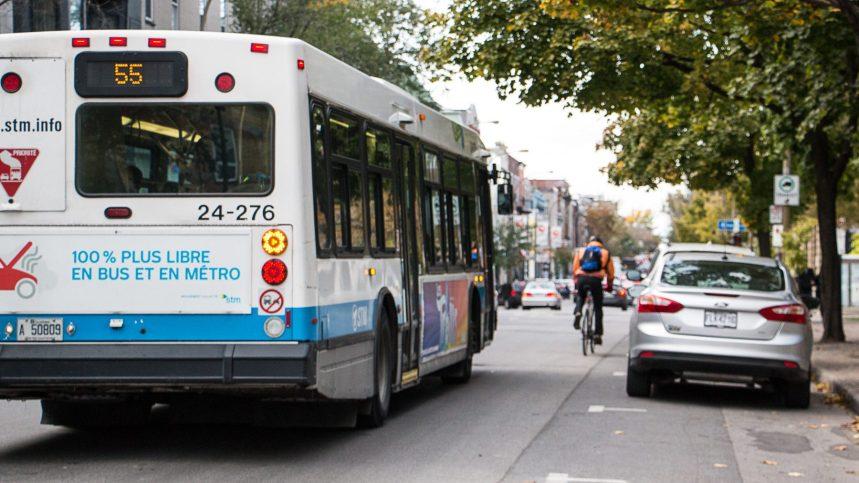 Partage des voies réservées: baisse de l'achalandage dans les bus?