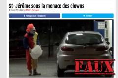 Attention à toutes ces fausses nouvelles à propos des clowns